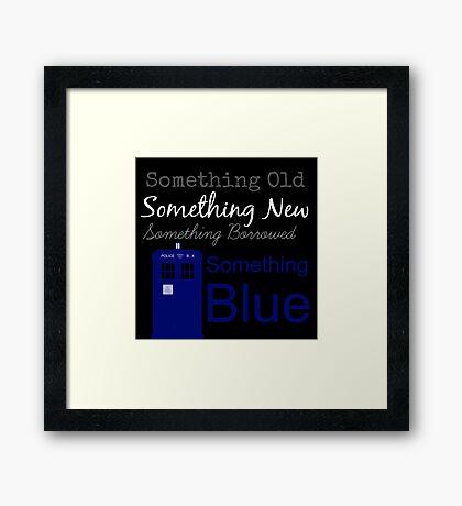 Something Blue Framed Print
