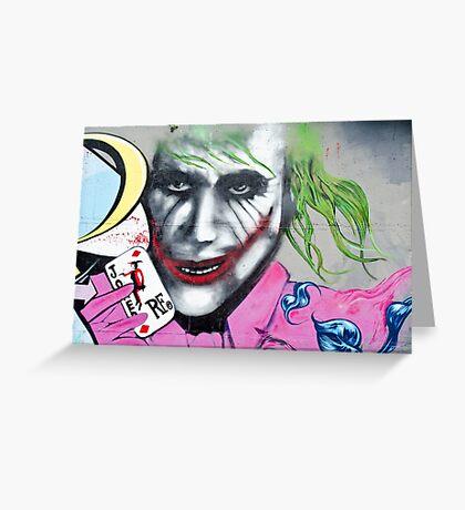 Graffiti Joker Greeting Card
