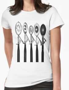 Scoops in Line Womens Fitted T-Shirt