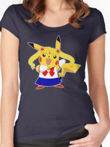 Sailor Pikachu Women's Fitted Scoop T-Shirt