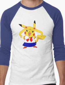 Sailor Pikachu Men's Baseball ¾ T-Shirt