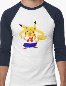 Sailor Pikachu Men's Baseball ¾ T-Shirt
