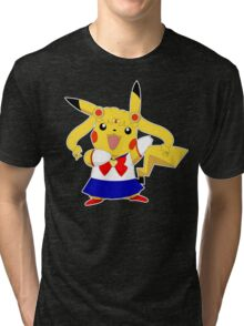 Sailor Pikachu Tri-blend T-Shirt