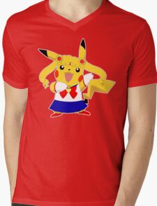 Sailor Pikachu Mens V-Neck T-Shirt
