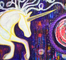 Into the Vortex - Unicorn Spiral Inner Power Painting Sticker
