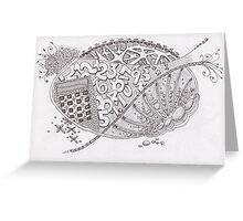 San-Doodle 006 Greeting Card