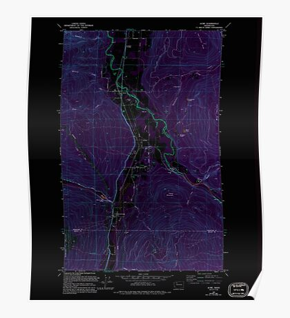USGS Topo Map Washington State WA Acme 239727 1980 24000 Inverted Poster