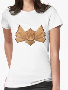 Demoted to Wood V ! Womens Fitted T-Shirt