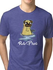 Pug in a Plug Tri-blend T-Shirt