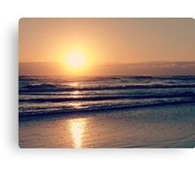 Florida Sunrise Beach Canvas Print