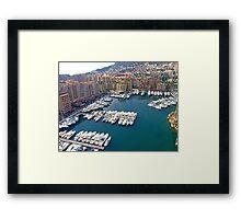 Monaco Marina Framed Print