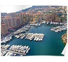 Monaco Marina Poster