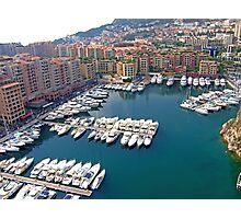 Monaco Marina Photographic Print