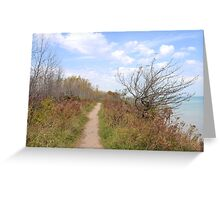 Path Above the Lake Greeting Card