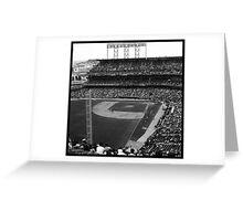 At&t Park: Baseball Photograph Greeting Card