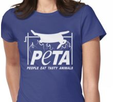 People Eat Tasty Animals PETA Parody Logo Womens Fitted T-Shirt
