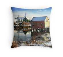 Icy Prospect Throw Pillow