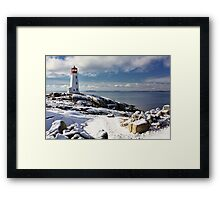 Snow Capped Peggy's Framed Print