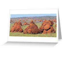 Termite Hills Greeting Card