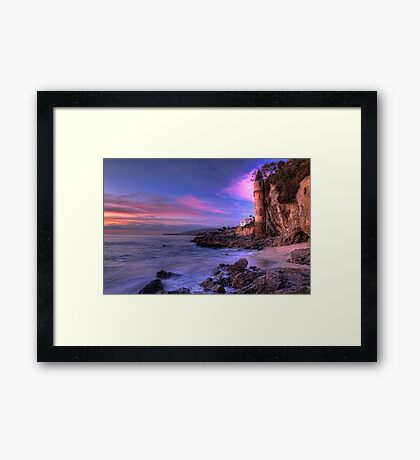 Victoria Beach at Dusk Framed Print