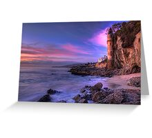 Victoria Beach at Dusk Greeting Card