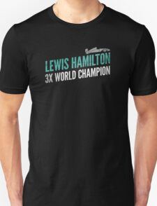 Formula 1's Lewis Hamilton: 3 Time World Champion (F1) T-Shirt