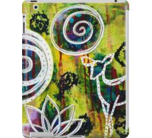 The Deer and the Lotus - Inner Power Painting iPad Case/Skin