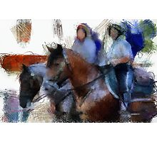 Mounted Police Boogie Photographic Print
