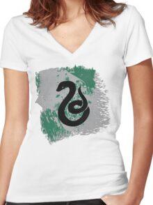 Slyyyyyyyyyytherin Women's Fitted V-Neck T-Shirt