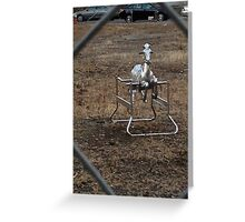 The Silver Hobby Horse - 3 Greeting Card
