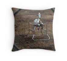 The Silver Hobby Horse - 3 Throw Pillow