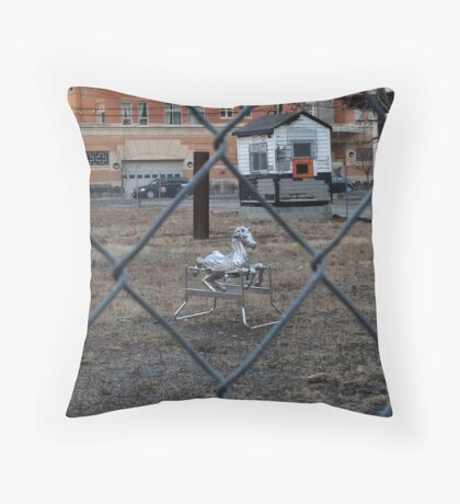 The Silver Hobby Horse - 2 Throw Pillow