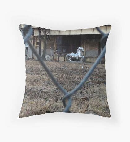 The Silver Hobby Horse - 1 Throw Pillow