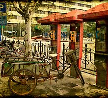 Telephone Parking in Shanghai by Wendi Donaldson