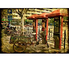Telephone Parking in Shanghai Photographic Print