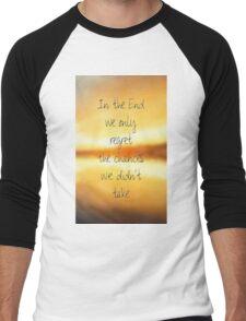 hipster background Men's Baseball ¾ T-Shirt