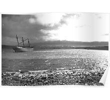 Wreck of the Lady Elizabeth, Stanley, Falkland Islands Poster