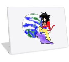 Goku SSJ4 guardian of earth blurred spray design Laptop Skin