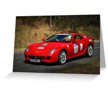 Ferrari 599 F1 Greeting Card