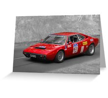 Ferrari 308 GT4 Duo Greeting Card