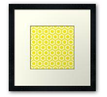 Yellow Hexagons Framed Print