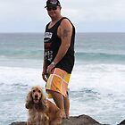 An Aussie Bloke & His Companion Dog by aussiebushstick