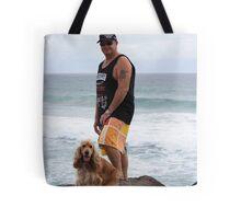 An Aussie Bloke & His Companion Dog Tote Bag
