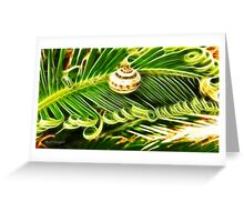 The Spirals of Life (art & poetry) Greeting Card
