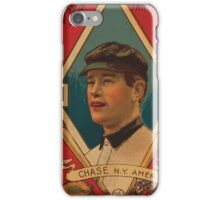 Benjamin K Edwards Collection Harold W Chase New York Yankees baseball card portrait iPhone Case/Skin