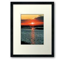 Sunset On The Reserve Framed Print