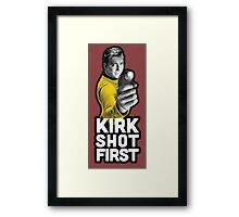 Kirk Shot First Framed Print