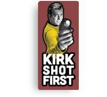 Kirk Shot First Canvas Print