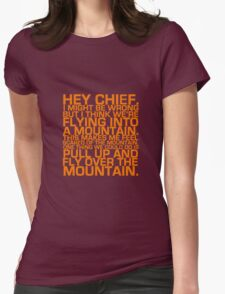 Cabin Pressure: Hey Chief Womens Fitted T-Shirt