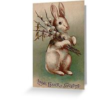 Vintage Easter Bunny Greeting Card